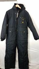 Refrigiwear Iron-Tuff Black Nylon Hooded Winter Coveralls Men's Size XL