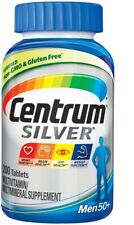 Centrum Silver Multivitamin for Men 50+,Vitamin D3, B Vitamins and Zinc 200 Ct