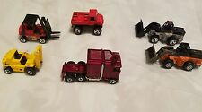 lot of 6 Hot Wheels collectibles semi forklifts front end loaders very nice lot