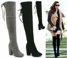 Block Heel Suede Party Boots for Women