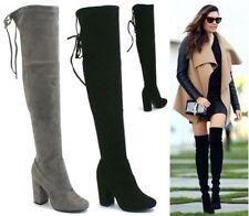 Block Heel Suede Party Boots for Women