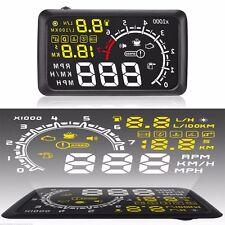 5.5 inch Digital Screen Automobile HUD Head Up Display OBD2 Speed Warning System