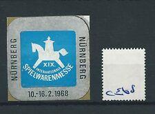 wbc. - CINDERELLA/POSTER - CE68 - EUROPE- INT. SPIELWARENMESSE - NURNBERG - 1968