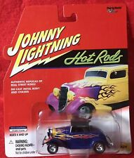 JOHNNY LIGHTNING HOT RODS ~ 1932 Ford Hi Boy (Blue With Flames) ~ 1/64 Diecast