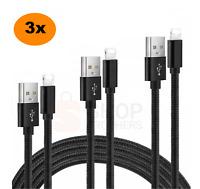 3x Ladekabel iPhone 6 7 8 11 12 X XS XR Pro Max Kabel für Original Apple USB 2m