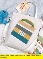 Womens Unisex White Cotton Canvas 3 use Bag Shoulder tote Backpack School Sewing