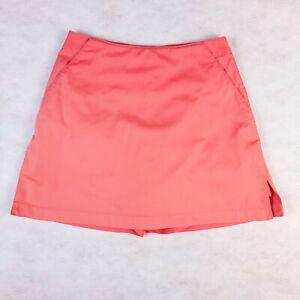 Women's ADIDAS Golf Stretch Skort Salmon Pink Size 2 Golf Ladies Cotton