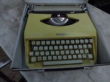 machine to write Mercedes yellow portable vintage typewriter decoration loft
