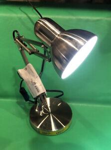 LED Swing Arm Architect Desk Lamp Silver Finish Intertek MTSL1003AYS