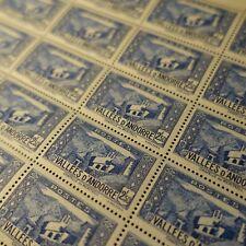 FEUILLE SHEET ANDORRE N°87 x25 CHAPELLE DE MERITXELL 1941 NEUF ** LUXE MNH