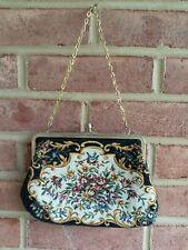 Vintage Walborg Floral Tapestry Purse Handbag Chain Handle Hong Kong