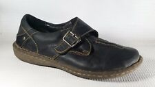 BORN Womens 8 M EU 39 Black Buckle Loafers Slip On Clog Casual Work Shoe Leather