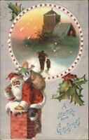 Christmas - c1910 Embossed Santa Claus - Postcard #27 bck