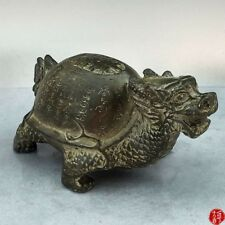 Chinese Antique Brass Carving Decoration Small Turtle Home Decoration