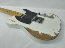 Haze Relic Tele. Electric Guitar,Solid Alder Body+Maple Neck,S-S+Free Bag. TLA
