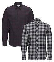JACK & JONES Long Sleeve Shirt New Mens Slim Fit Check Casual Smart James Shirts