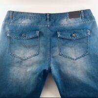 Lee Cooper Mens W40 L32 Straight Leg Regular Button Fly Blue Jeans