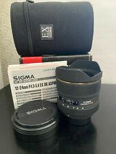 SIGMA 12-24mm D 1:4.5-5.6 EX DG HSM LENS for NIKON - 12-24 mm f/4.5-5.6