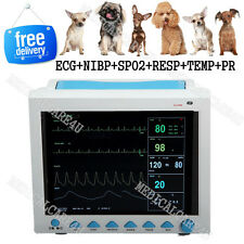 Veterinary ICU Patient Monitor Vital Signs Monitor ECG NIBP SPO2 RESP TEMP PR,CE