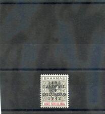 BAHAMAS Sc 125(SG 171b)**F-VF NH 1942 COLUMBUS 1SH GREY BLACK & CRIMSON $75