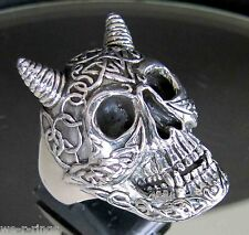 Sterling Silver .925   Celtic Skull Ring     RG07/S