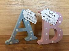 personalised handmade wooden letter for christening/new baby/newborn/birth gift