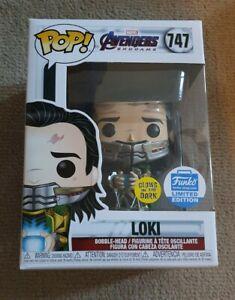 Loki GITD Tesseract Avengers Endgame #747 Marvel Funko POP! Vinyl Funko exc