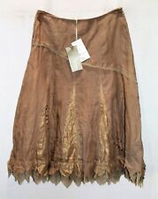 VERS Brand Taupe Gold Linen Skirt Size 8 BNWT #TO20
