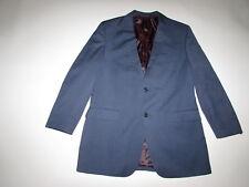 Gino Valentino Men's Super 150s Zegna Blazer Size 42 Long Blue Wool Silk Jacket