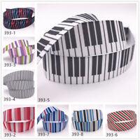 DIY 1-10 Yard 1'' 25MM stripe Printed Grosgrain Ribbon Hair Bow Sewing Ribbon
