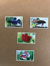 Thai fish bite stamps set 4 stamps