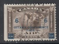"Canada Scott #C4 6 cent on 5 cent olive brown ""Air Mail""  F"
