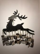 Large Wooden Advent Calendar with Hanging Cloth Bags Christmas Decoration