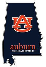 "AUBURN UNIVERSITY TIGERS 4"" PREMIUM VINYL DECAL STATE-ITS A STATE OF MIND"