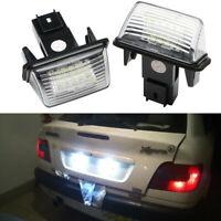 White LED License Plate Light For Peugeot 5008 307 206 207 308 406 Citroen C3 C5