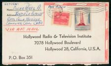 Mayfairstamps Habana 1960 Camaguey Hollywood Radio TV Insitute Cover wwh_31783