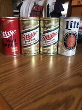 New listing Miller Aluminum Pull Tab Beer Cans Set Of 4