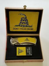 Gadsden Dont Tread On Me Folding Knife Flip Top Lighter Gift Set FAST SHIP #2