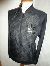 Para Hombre Adidas Originals Negro años 80 Casuals Firebird Track Jacket Cremallera Cardigan S