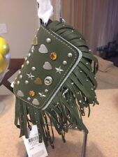 NWT COACH  1941 DINKIER 15 BEATNIK  RIVETS MOSS GREEN  FRINGE $450 RARE SOLD OUT