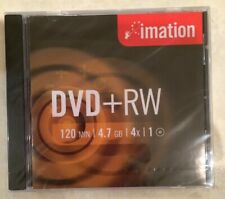 7 X IMATION DVD+RW DISC + CASE 120 MIN 4.7GB 4x WRITE SPEED BRAND NEW & SEALED