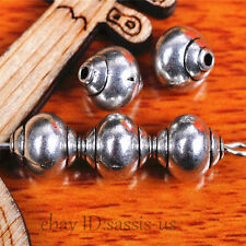 40 Pieces 8mm Snail Style Beads Spacer Bead Tibetan Silver DIY Jewelry A7510