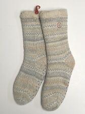 Dearfoams Women's Slipper Socks Fits Shoe Size 4-10 Oatmeal