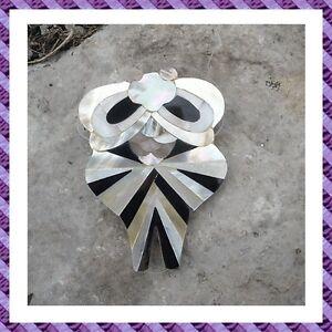 1 pendentif chouette recouvert nacre