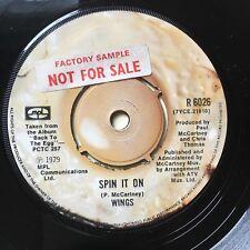 Beatles Paul McCartney Wings Old Siam Sir Rare UK Demo Promo Factory Sample 1979