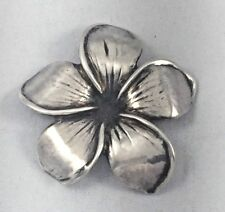 "Beautiful Ming's Sterling Floral Plumeria Brooch/Pin 1 5/8"" diameter"