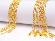 10PCS 18inch Nice Design Jewelry 18K Yellow Gold Filled Figaro GF Chain Necklace