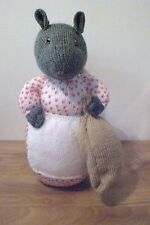 """GOODY TIPTOES FROM BEATRIX POTTER A NEW HAND KNITTED DOLL/TOY 35.5cm / 14"""" TALL"""