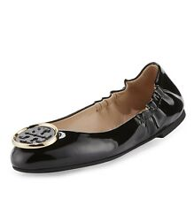 Tory Burch Twiggie Patent logo  Ballet Flats Shoes Retail: $250