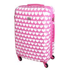XL Hartschalen Reise Koffer Trolley TSA 80 Liter Herz Rosa byGraziela